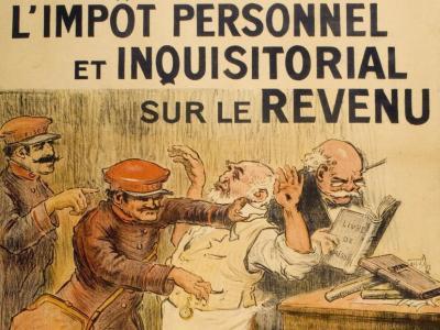 História do imposto de renda na França, uma marcha para a guerra