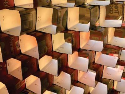 Caixas de leite reutilizadas viram elemento de controle solar em laboratório da Univali